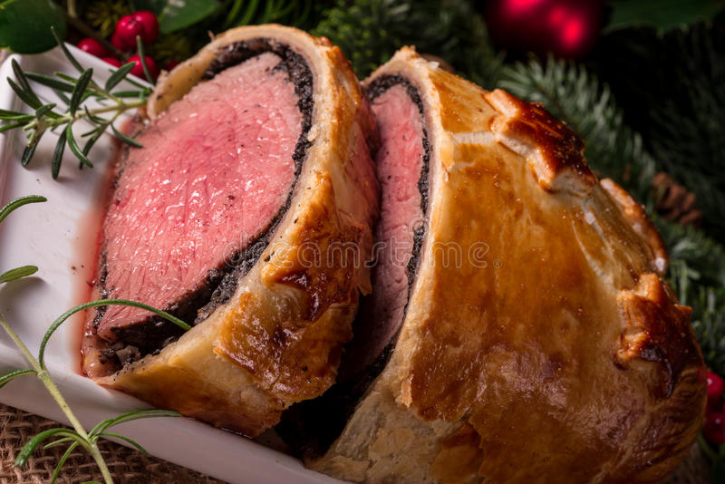 Beef Wellington as Advent creation. A Beef Wellington as Advent creation stock photo