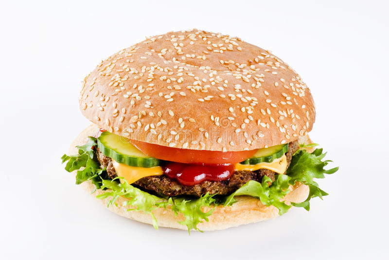 Beefburger image stock