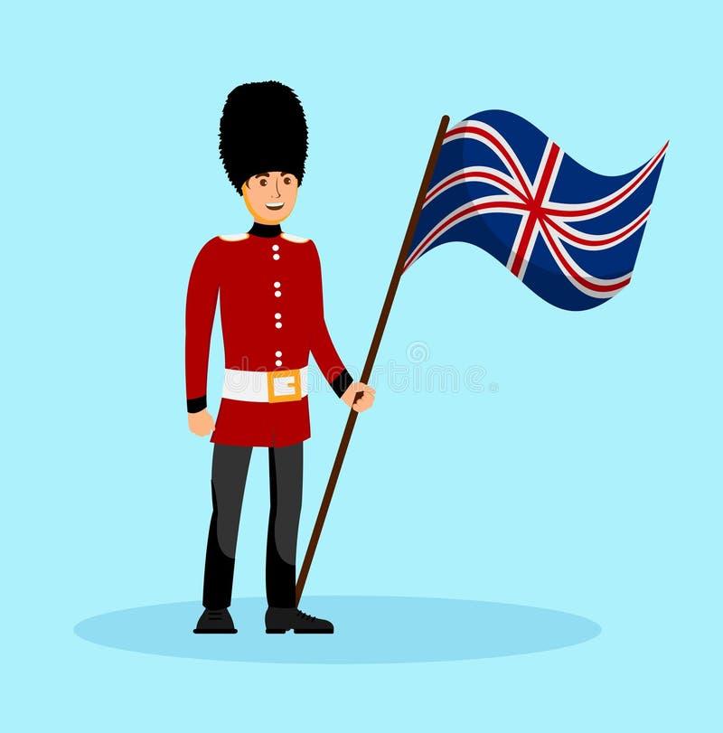 Beefeater, Anglia królowej strażnika wektoru ilustracja ilustracja wektor
