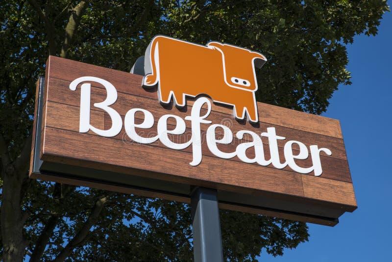 Beefeater-Logo stockfotos