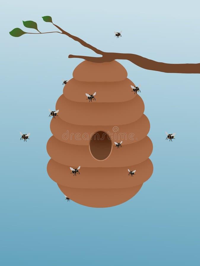 Beehive vector illustration
