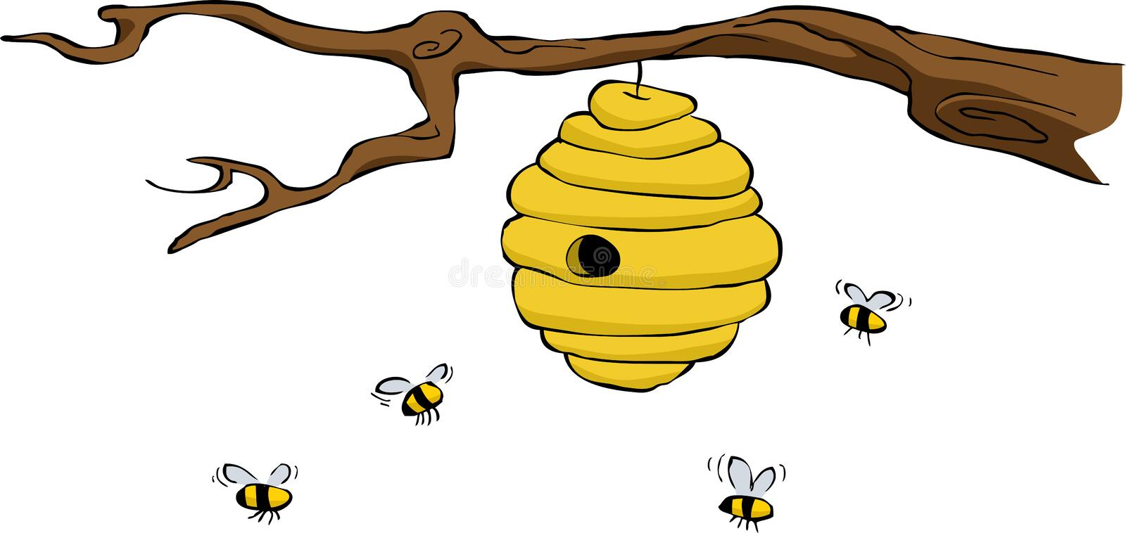 Beehive. On a white background, vector