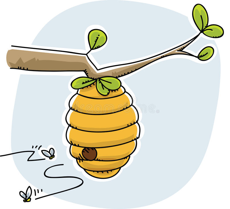 beehive stock illustration illustration of hive insect 41571498 rh dreamstime com cartoon beehive drawing cartoon beehive pictures