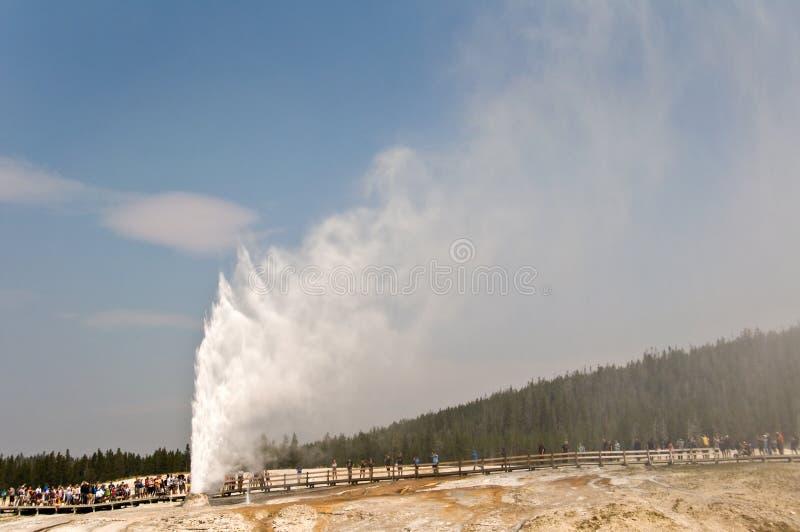 Beehive geyser, Yellowstone National Park stock photo