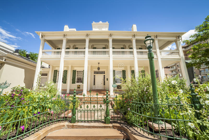 The Beehive House, Latter-Day Saints' Historic Residence in Salt royalty free stock photography