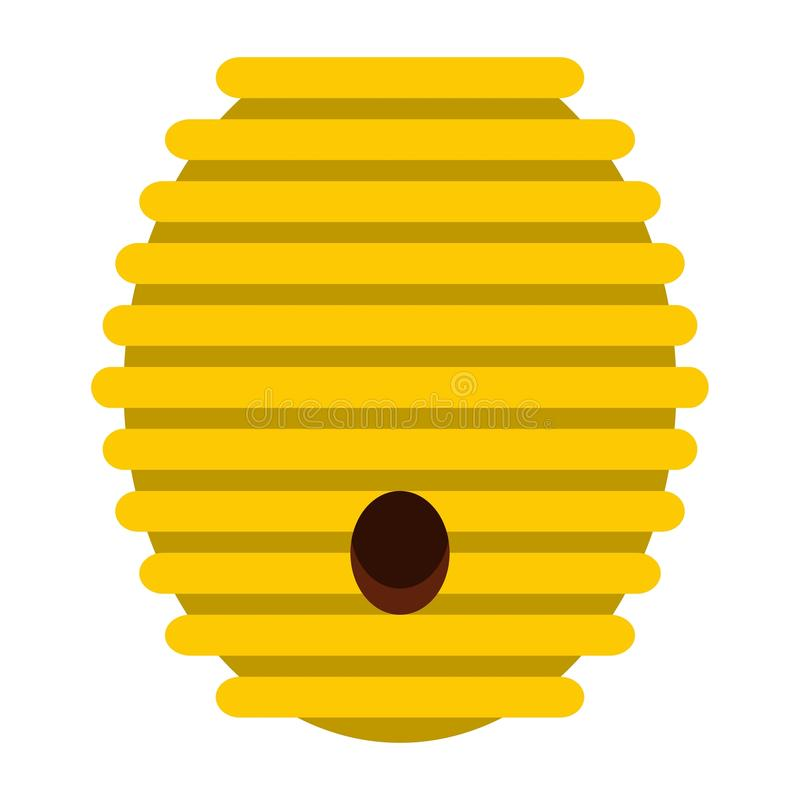 Beehive icon, flat style vector illustration