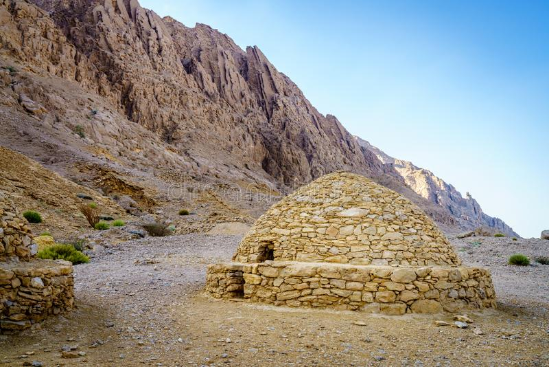 Beehive tombs in Al Ain stock photos