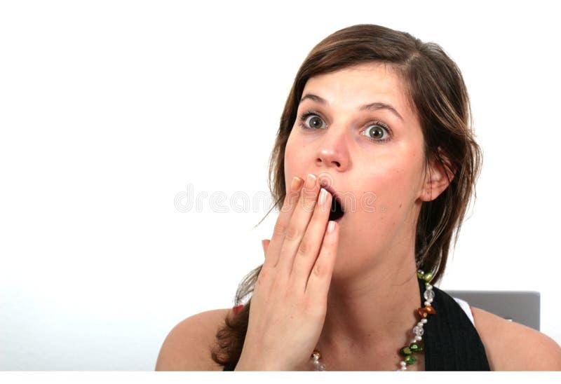 Beeing Surprised Or Yawning Royalty Free Stock Photos