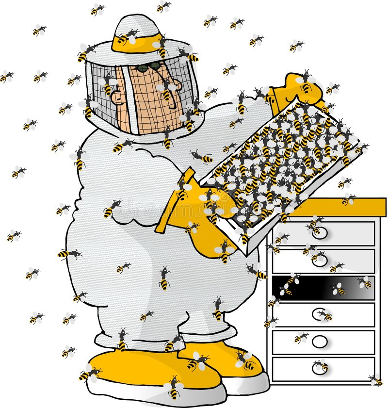 The Beekeeper stock illustration