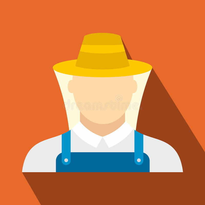 Beekeeper flat icon royalty free illustration