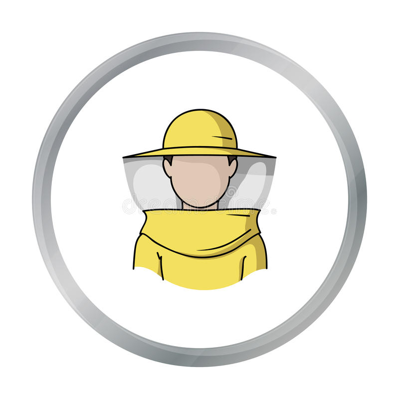 Beekeeper icon in cartoon style isolated on white background. Apiary symbol stock vector illustration stock illustration