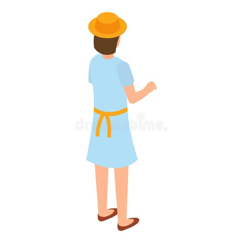 Beekeeper icon, isometric style royalty free illustration