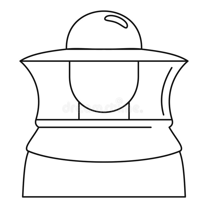 Beekeeper icon, outline style vector illustration