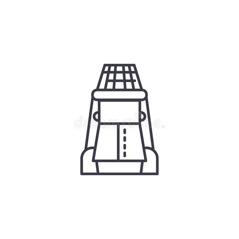 Beekeeper linear icon concept. Beekeeper line vector sign, symbol, illustration. stock illustration