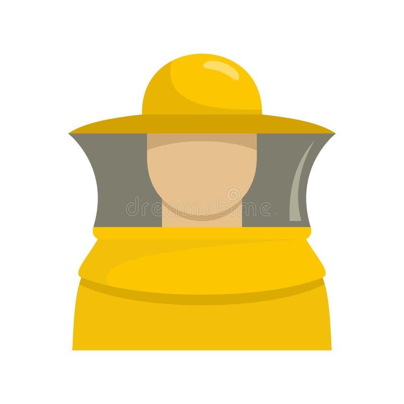 Beekeeper man icon, flat style vector illustration