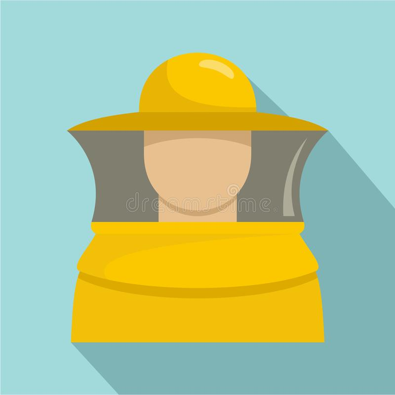 Beekeeper man icon, flat style royalty free illustration