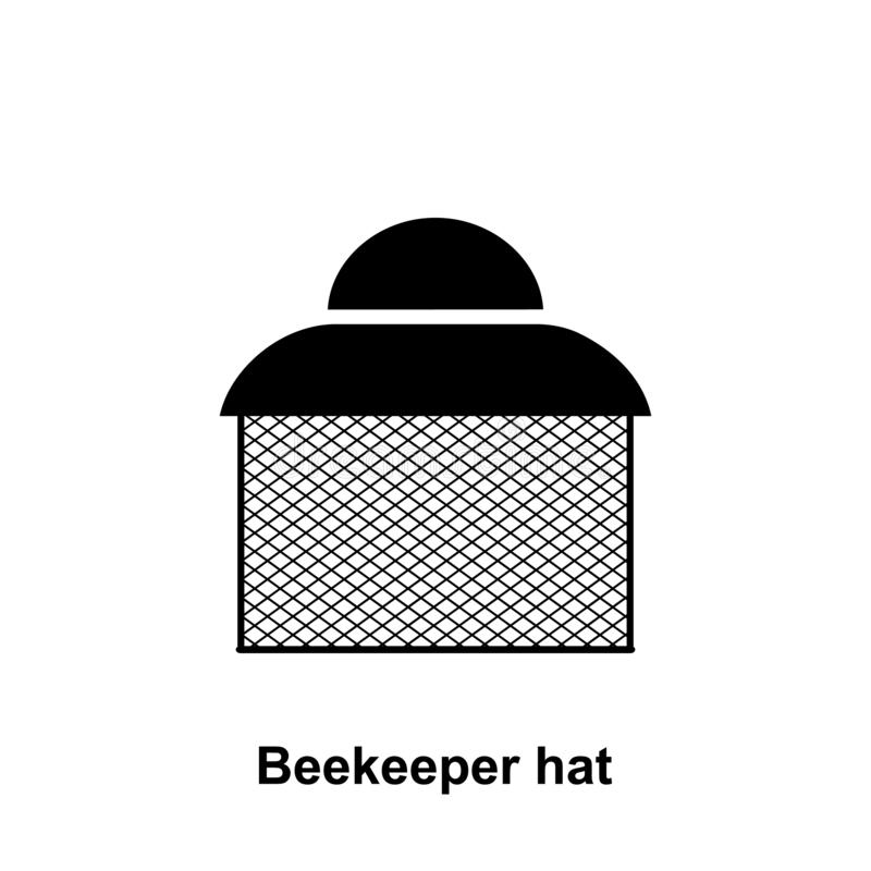 Beekeeperhattsymbol Beståndsdel av biodlingsymbolen Högvärdig kvalitets- symbol för grafisk design Tecken och symbolsamlingssymbo royaltyfri illustrationer