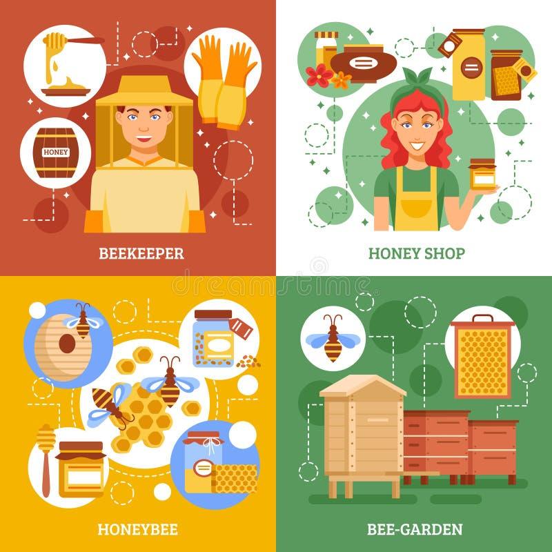 Beekeeping Design Concept royalty free illustration