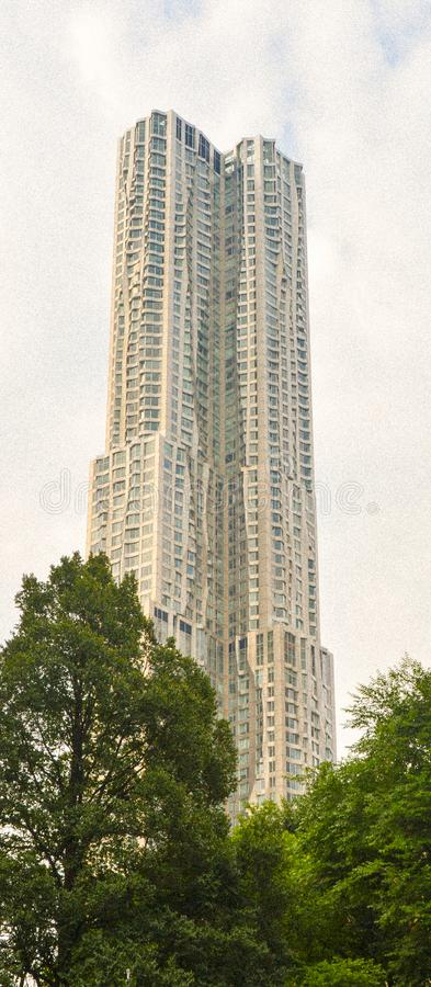 Beekman Tower and currently marketed as New York by Gehry. 76-story skyscraper designed by architect Frank Gehry in the New York City borough of Manhattan at 8 royalty free stock images
