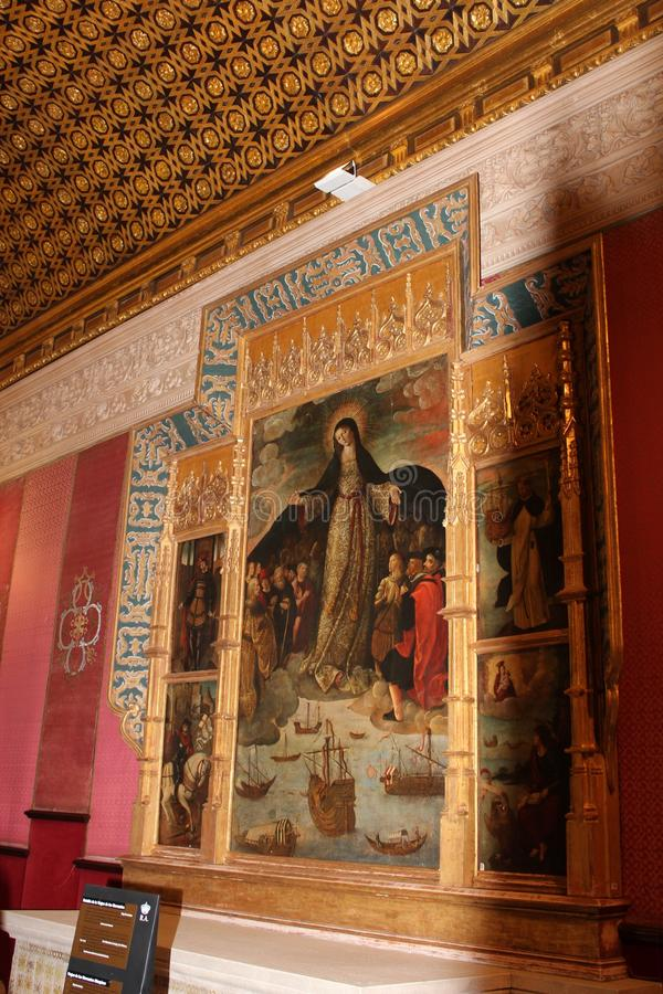 beeld De Kathedraal van Heilige Mary van See het Spaans: Catedral DE Santa MarÃa DE La Sede, Andalusia, Spanje stock afbeeldingen