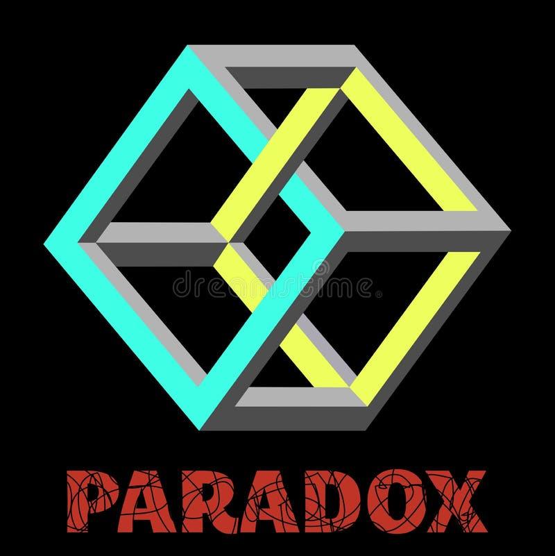 Beeld de paradoxkubus royalty-vrije illustratie