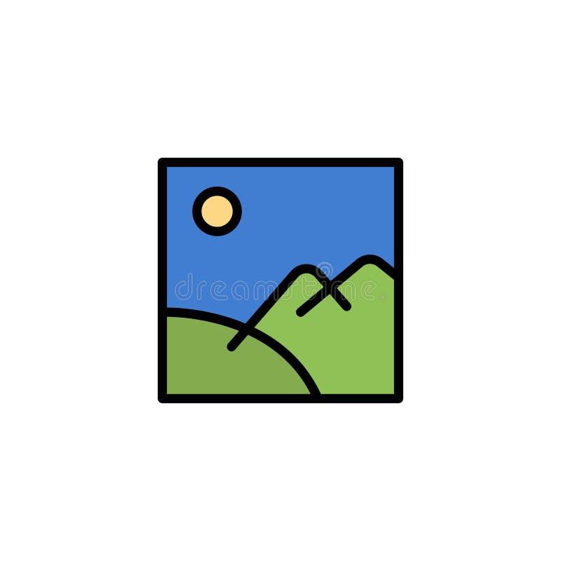 Beeld, Galerij, Beeld, Zonzaken Logo Template vlakke kleur vector illustratie