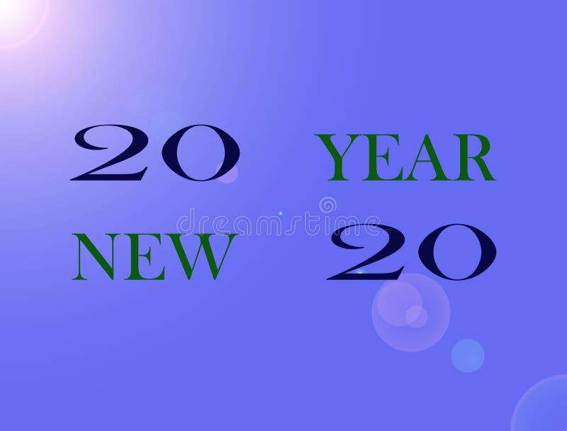 Beeld Gelukkig Nieuwjaar stock illustratie