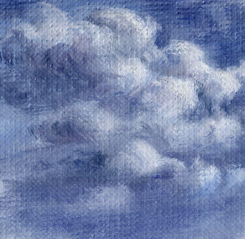 Beeld, hemel met wolken stock illustratie
