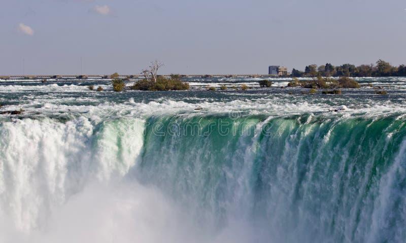 Beeld met een verbazende Niagara-waterval bij daling stock foto's