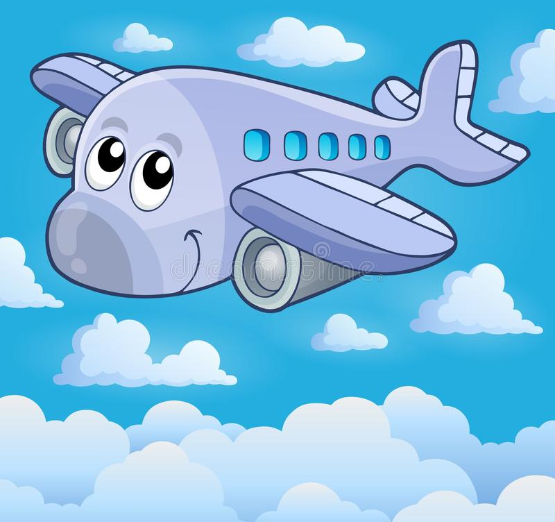Beeld met vliegtuigthema 5 vector illustratie