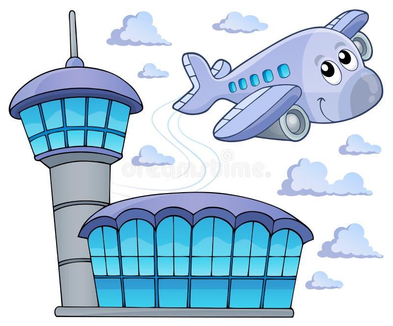 Beeld met vliegtuigthema 6 royalty-vrije illustratie