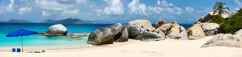 Beeld perfect strand in de Caraïben royalty-vrije stock foto