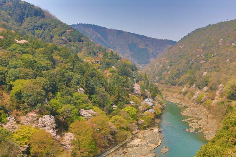 Beeld van Arashiyama van de Lente royalty-vrije stock afbeeldingen