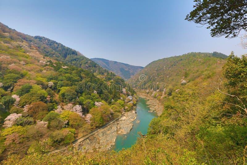 Beeld van Arashiyama van de Lente royalty-vrije stock foto's