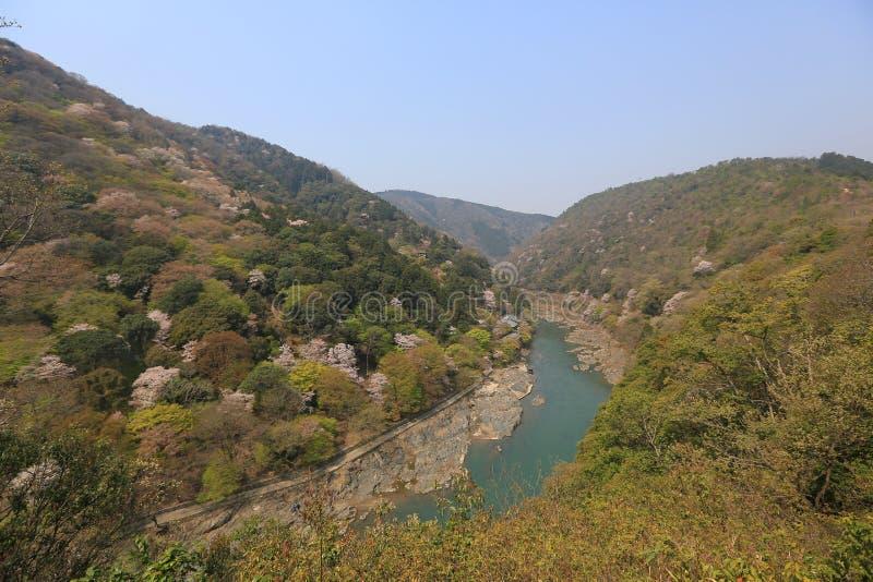 Beeld van Arashiyama van de Lente stock fotografie