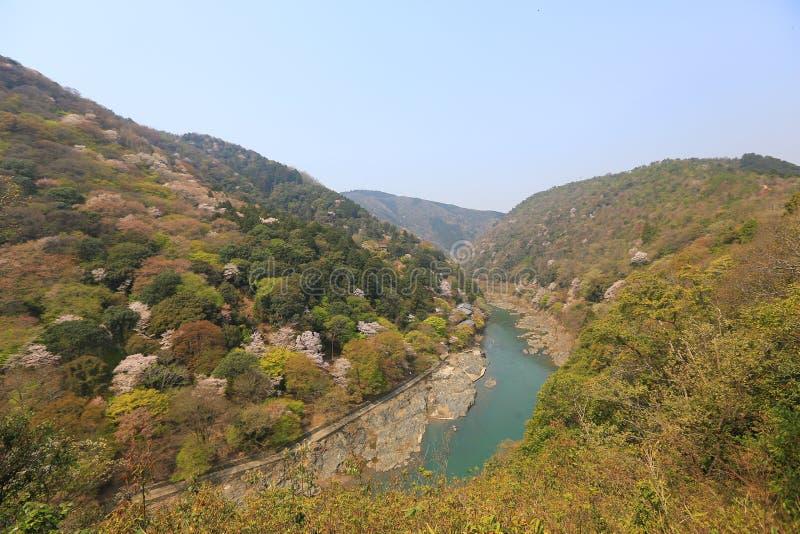 Beeld van Arashiyama van de Lente royalty-vrije stock afbeelding
