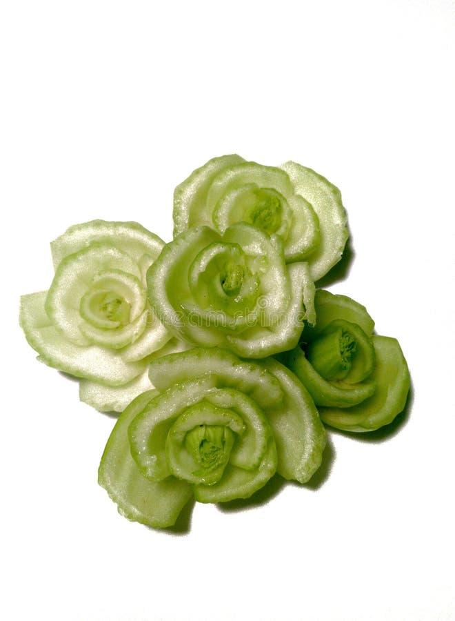 beeld van bloemen gesneden vormgroente op witte achtergrond royalty-vrije stock afbeeldingen