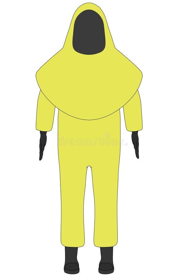 Beeld van chemisch kostuum stock illustratie