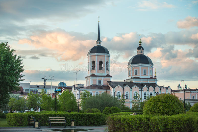 Beeld van Christian Church in Tomsk Rusland royalty-vrije stock foto's