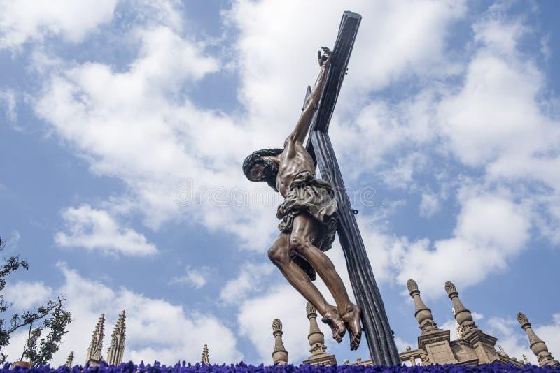 Beeld van de Heilige Week in Sevilla royalty-vrije stock fotografie