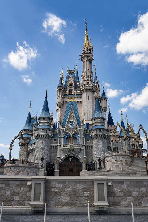 Beeld van Disney-Wereldkasteel Orlando, Florida stock foto's