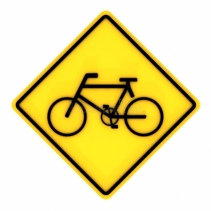 Beeld van diverse die Verkeersteken van de wegfiets op een witte achtergrond worden geïsoleerd het 3d teruggeven stock illustratie