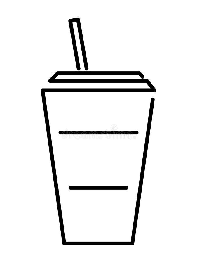 Beeld van een koffiekop stock illustratie