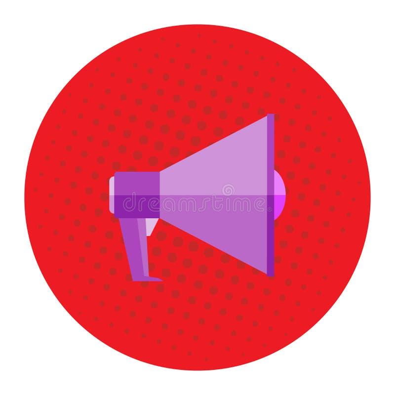 Beeld van een megafoon op een rode achtergrond, pop-art, wijnoogst Mega reclameaanbieding, banner Vector beeld royalty-vrije illustratie