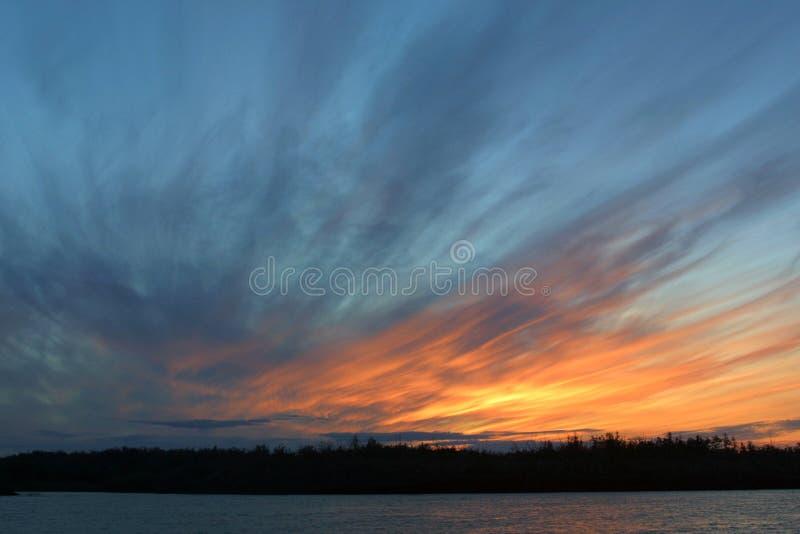Beeld van een mooie zonsondergang royalty-vrije stock foto's