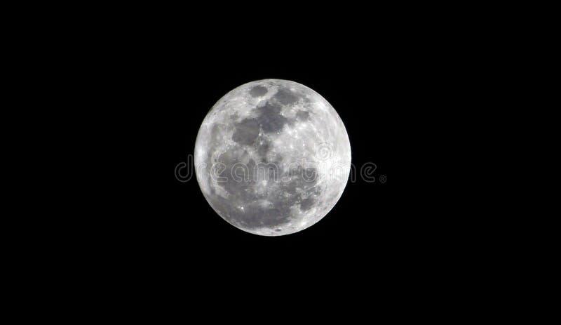 Beeld van een volle maan met alle Details stock fotografie