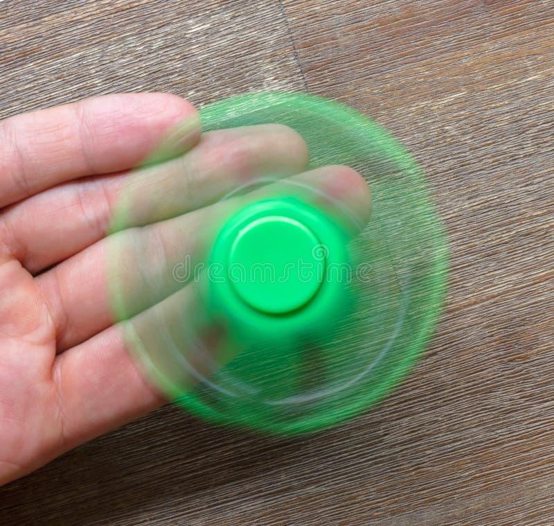 Beeld van Fidget de spanningsstuk speelgoed van de vingerspinner royalty-vrije stock fotografie