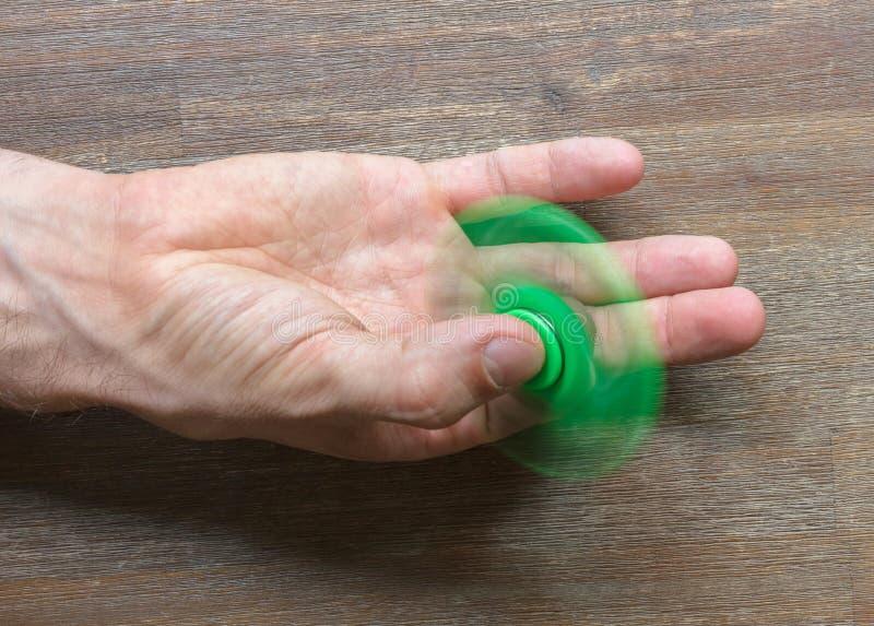 Beeld van Fidget de spanningsstuk speelgoed van de vingerspinner stock foto