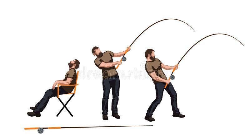 Beeld van fishman vector illustratie