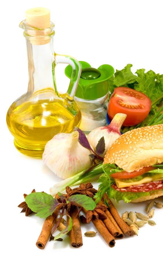 Beeld van groenten op een lijstclose-up stock afbeelding